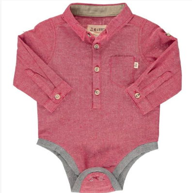 Red woven onesie