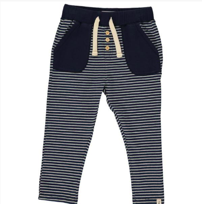 Navy stripe jog pants
