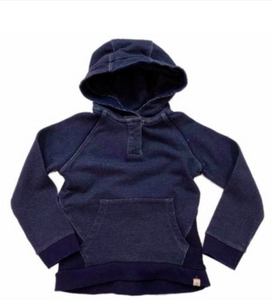 Navy vintage wash hooded top