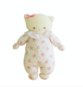 Asleep Awake Kitty Ivory Pink