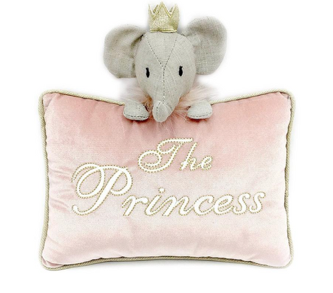 'The Princess' pink velvet accent pillow