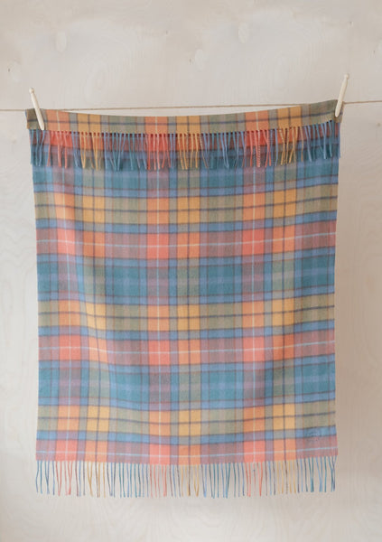 Super Soft Lambswool Baby Blanket in Buchanan Antique Tartan