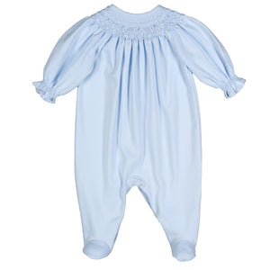 Blue Smock Pima Bishop Footie