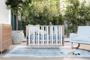 Novella Crib w/Toddler Bed Conversion Kit in Stained Ash/Ivory