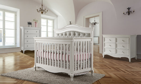 Diamante Forever Crib- Grey Vinyl