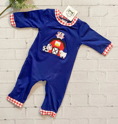 Long Sleeve Barnyard Romper