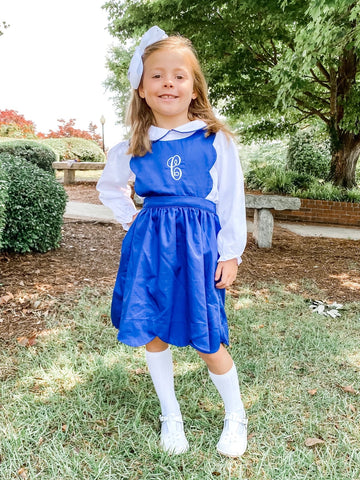 Classic Navy Dress with Peter Pan Shirt