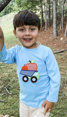 Pumpkin Truck Long Sleeve Shirt