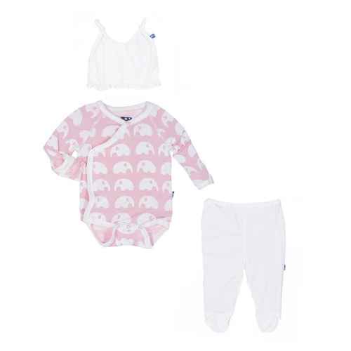Essentials Ruffle Kimono Newborn Gift Set in Lotus Elephant