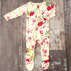 Yellow Cherry Blossoms Footie