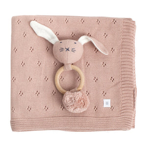 Clover Knit Baby Gift Set Berry