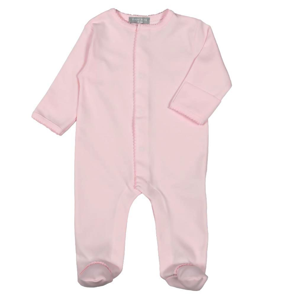 Pink Pima Footie with Pink Trim