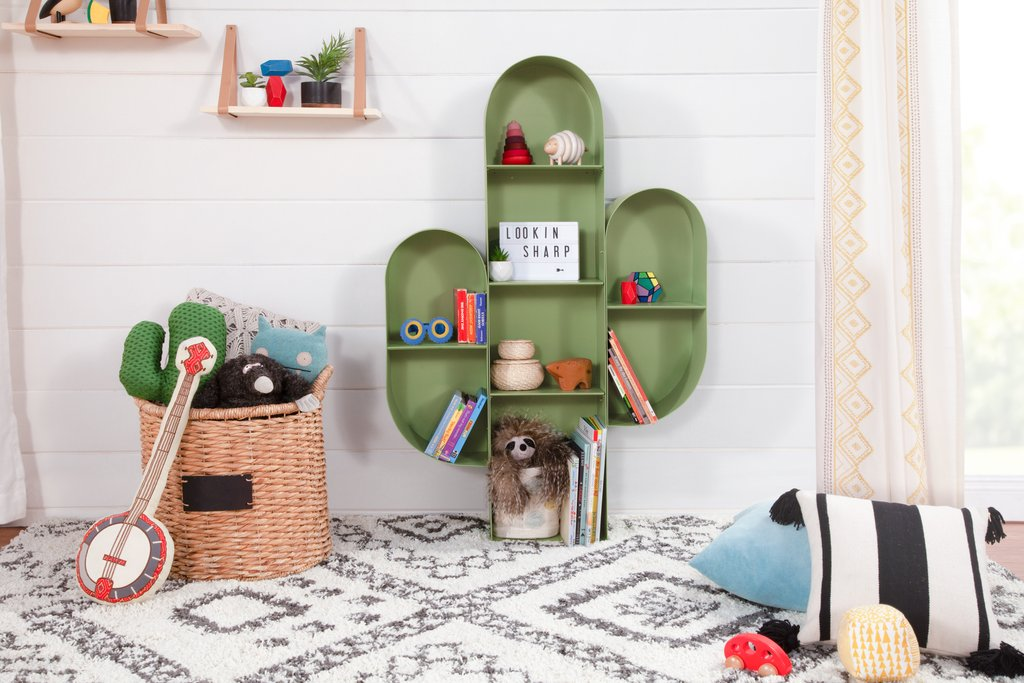 Cactus Bookcase in Sage Green