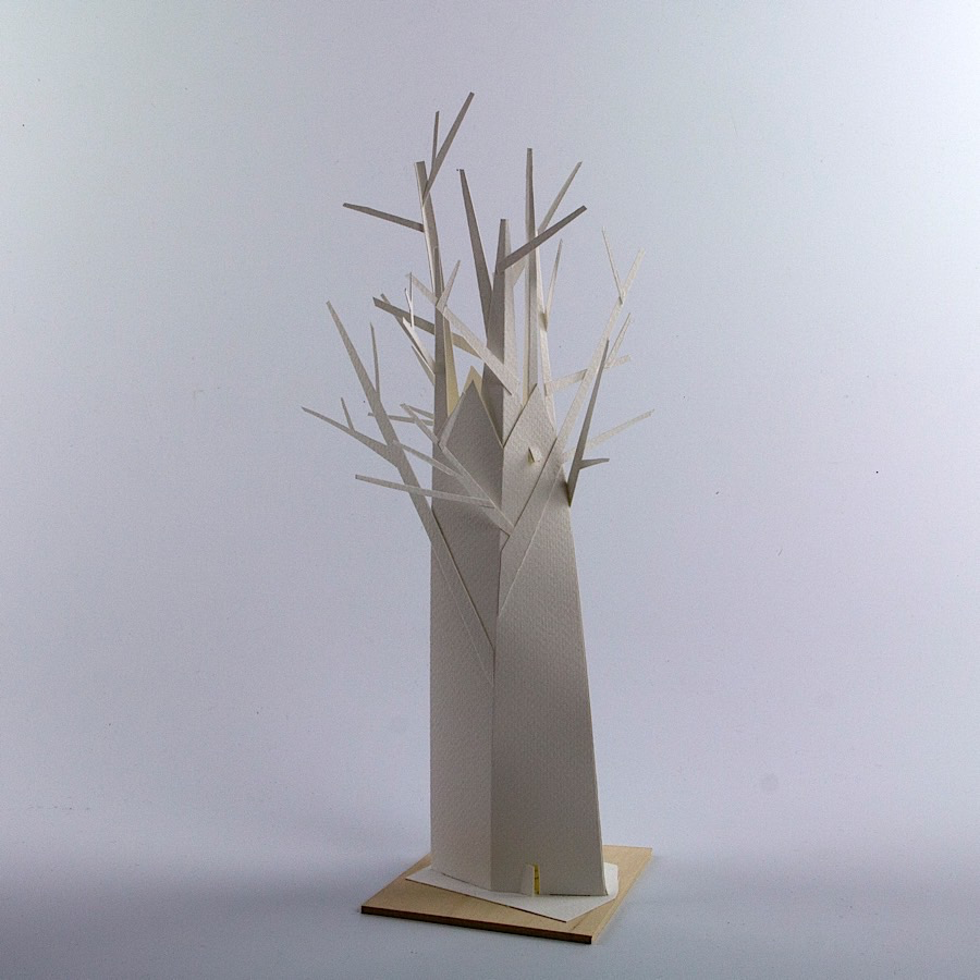 Kemp Mooney, Treehouse 5, paper, 13""