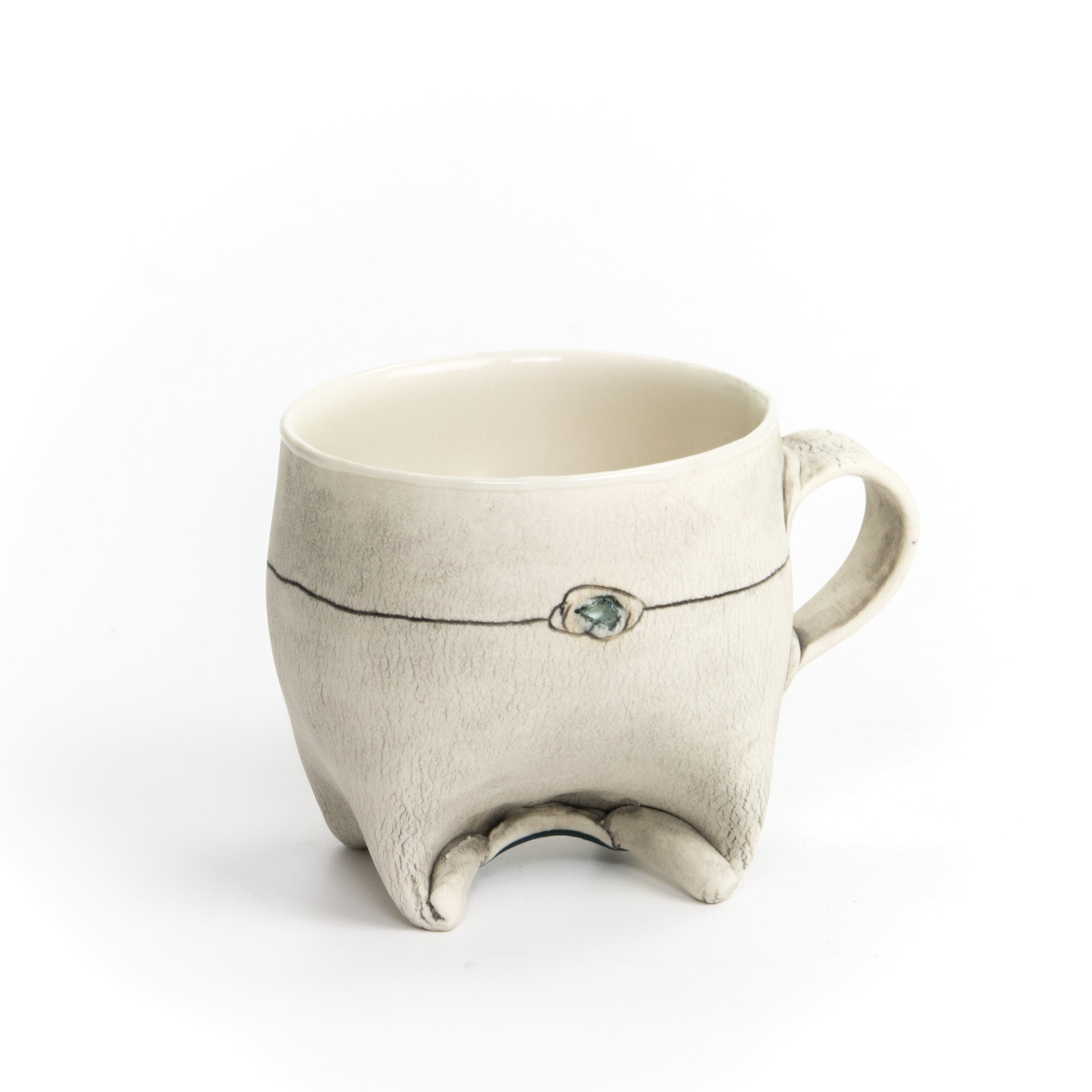 Small Rolled Foot Mug