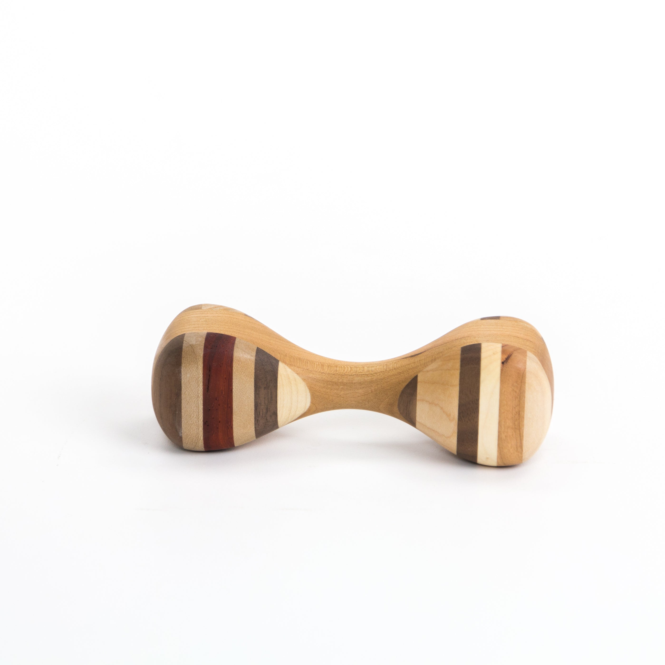 Wooden Baby Rattle - Medium Wood