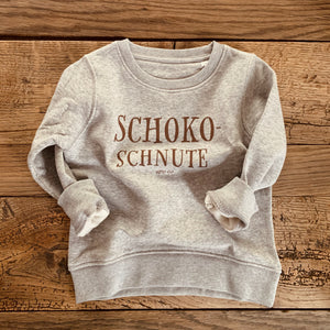 Kinder Pullover - SchokoSchnute - in Heather Grey