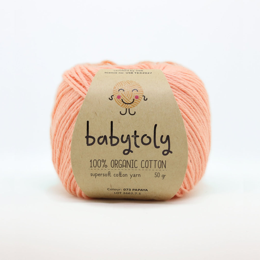 Organic Cotton von Babytoly - papaya 073 -