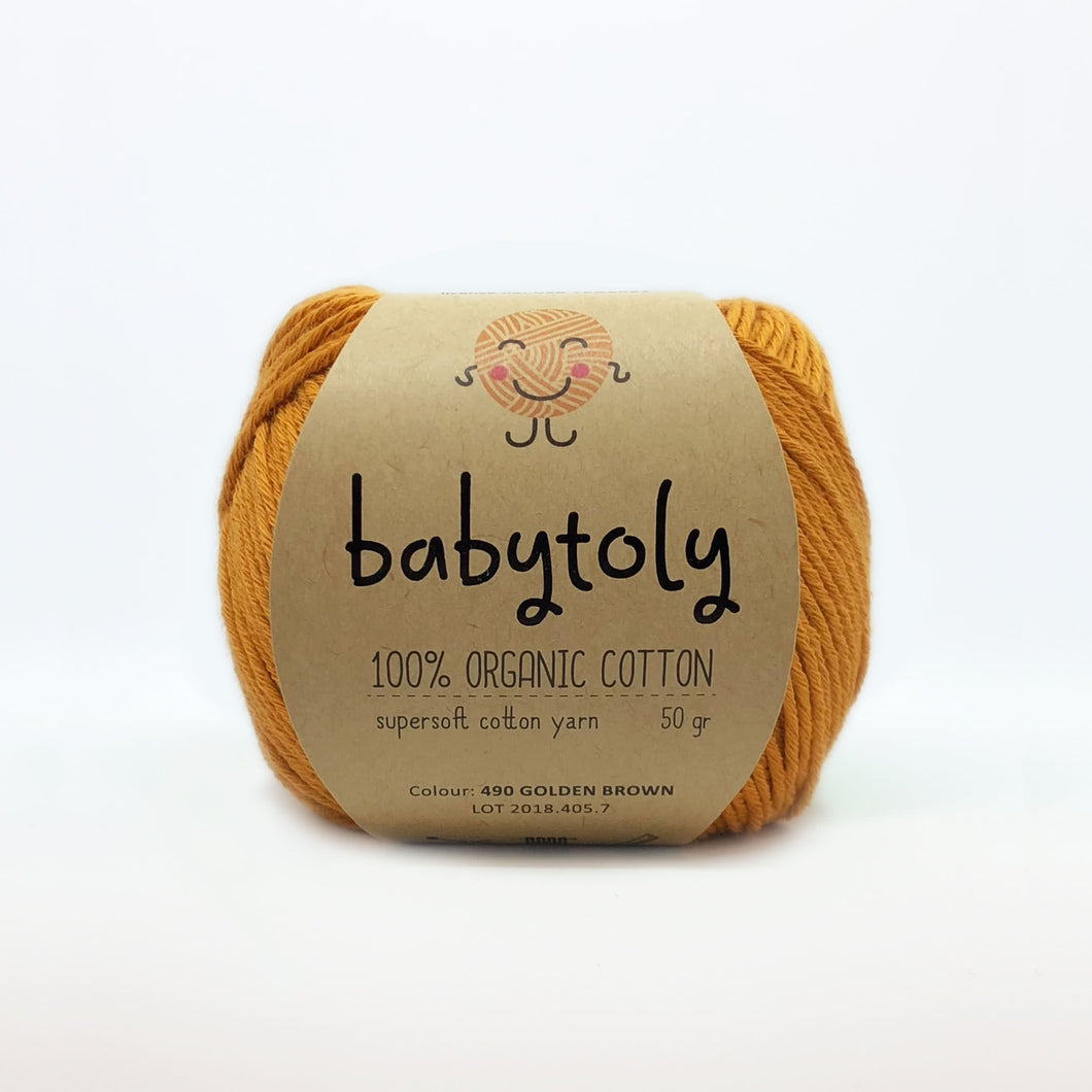Organic Cotton von Babytoly - goldenbrown 490 -