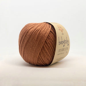 Organic Cotton von Babytoly - terracotta 727 -