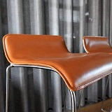 Newsleather Radermecker - De Stoffeerder Leather Barstool