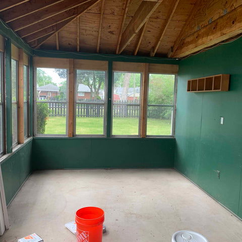 sun room dark green interior rehab therapy Tom and Val Moody Reliv distributors