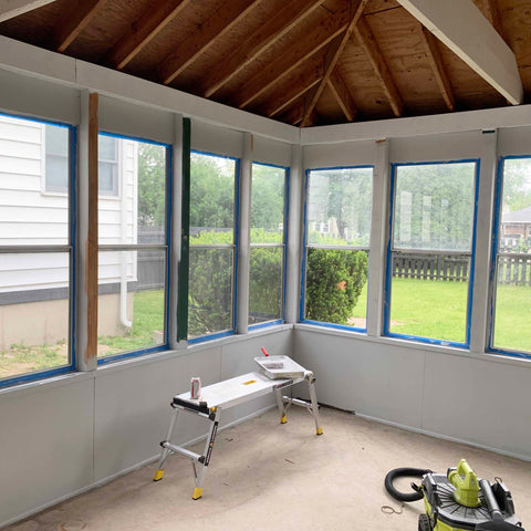 sun room with painter's tape rehab therapy tom and val moody reliv distributors