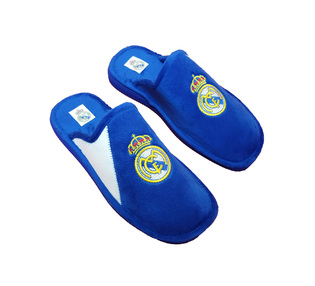 ANDINAS OFFICIAL SLIPPERS REAL MADRID TEXTIL BICOLOR ZAPATILLAS DE CASA PRODUCTO OFICIAL 108