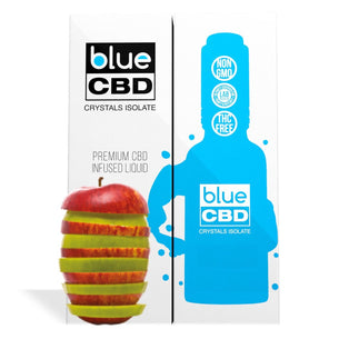 Apple Flavor Blue CBD Crystals Isolate