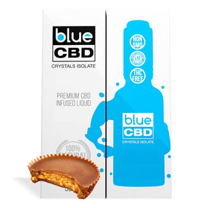 Peanut Butter Cup Flavor Blue CBD Crystal Isolate