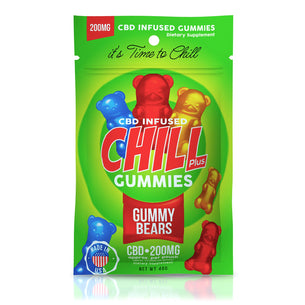 Chill Plus Gummies - CBD Infused Gummy Bears - 200mg