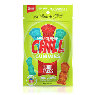 Chill Plus Gummies - CBD Infused Sour Faces - 200mg