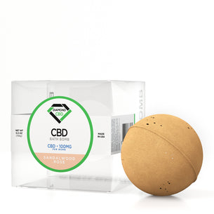 Diamond CBD Bath Bomb Sandalwood Rose - 100mg