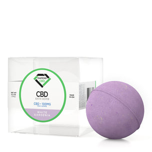 Diamond CBD Bath Bomb White Gardenia - 100mg