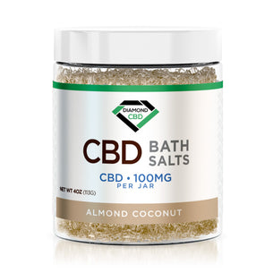 Diamond CBD Bath Salt - Almond Coconut - 100mg