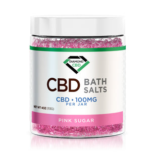 Diamond CBD Bath Salt - Pink Sugar - 100mg