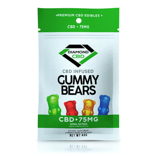 Diamond CBD Gummies - Infused Gummy Bears - 75mg