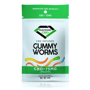 Diamond CBD Gummies - Infused Gummy Worms - 75mg