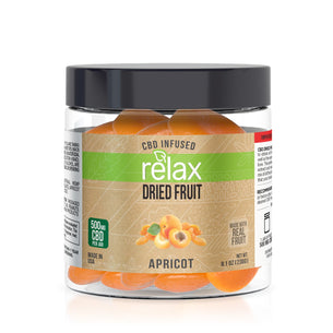Relax CBD Dried Fruit - Apricots - 500mg