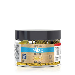 Relax CBD Dried Fruit - Banana Chips - 750mg