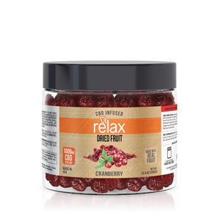 Relax CBD Dried Fruit - Cranberries - 1000mg
