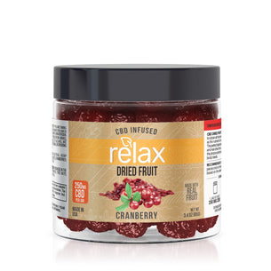 Relax CBD Dried Fruit - Cranberries - 250mg