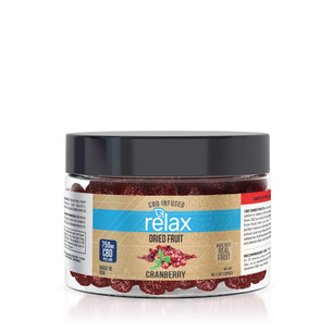 Relax CBD Dried Fruit - Cranberries - 750mg