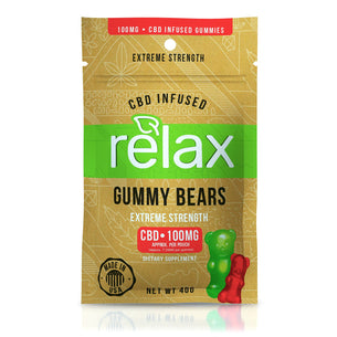 Relax Gummies - CBD Infused Gummy Bears - 100mg