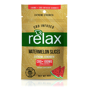 Relax Gummies - CBD Infused Watermelon Slices - 100mg