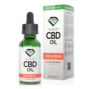 Unflavored Diamond CBD Oil - 1000mg