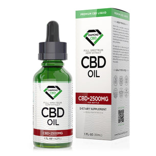 Unflavored Diamond CBD Oil - 2500mg