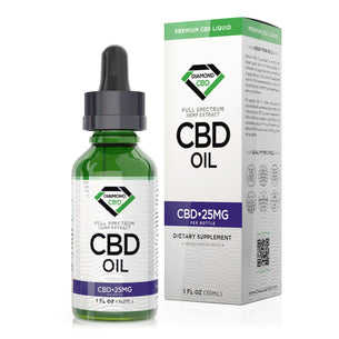 Unflavored Diamond CBD Oil - 25mg