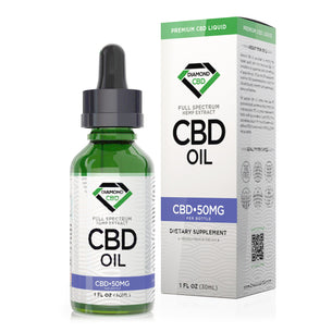Unflavored Diamond CBD Oil - 50mg