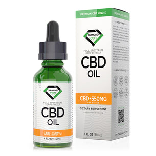 Unflavored Diamond CBD Oil - 550mg